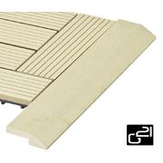 G21 Přechodová lišta pro WPC dlaždice Cumaru, 38,5x7,5 cm rohová