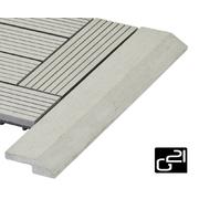 G21 Přechodová lišta pro WPC dlaždice Incana, 38,5x7,5 cm rohová