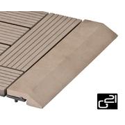 G21 Přechodová lišta pro WPC dlaždice indický teak, 30x7,5 cm rovná