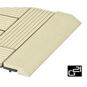 G21 Přechodová lišta pro WPC dlaždice Cumaru, 30x7,5 cm rovná