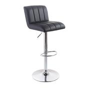 G21 Barová židle Malea black, koženková, prošívaná