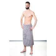 Kilt do sauny NordicSPA froté šedý, 80x145 cm