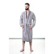 Župan do sauny NordicSPA froté šedý, unisex, vel. XXL