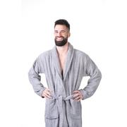 Župan do sauny NordicSPA froté šedý, unisex, vel. XL