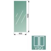 Čiré, kalené lepené sklo 16,76-100x40