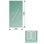 Čiré, kalené lepené sklo 16,76-100x50