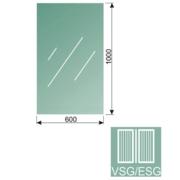 Čiré, kalené lepené sklo 16,76-100x60
