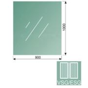 Čiré, kalené lepené sklo 16,76-100x90