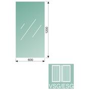Čiré, kalené lepené sklo 16,76-120x60-VSG/ESG