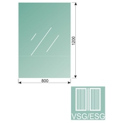Čiré, kalené lepené sklo 16,76-120x80-VSG/ESG