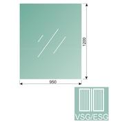 Čiré, kalené lepené sklo 16,76-120x95-VSG/ESG