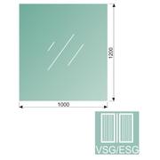 Čiré, kalené lepené sklo 16,76-120x100-VSG/ESG