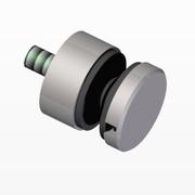 Kruhový držák skla 40x40x2/M8