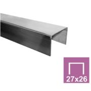Nerezové zábradlí-Madlo-28x26x2,0/L2500mm, AISI 304