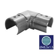Nerezové zábradlí - Koleno sklo AISI 304, 90/D48,3/1,5mm