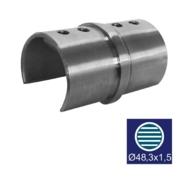 Nerezové zábradlí - Spojka sklo AISI 304, 90/D48,3/1,5mm
