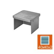 Nerezové zábradlí - záslepka sklo 40x40x2, AISI 304