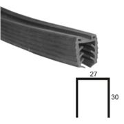 Nerezové zábradlí - držák skla - těsnění T11,5-13,5/L2,500mm