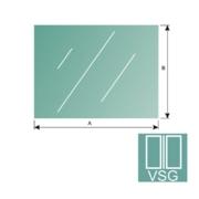 Nerezové zábradlí - Sklo čiré, lepené-VSG, 1000x75-8,76