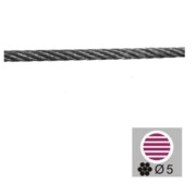 Nerezové zábradlí - lanko D5mm/12,5 m, AISI316