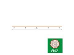 Nerezové zábradlí - Madlo Buk, D42/L4000mm