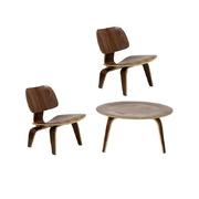 Dřevěné křeslo design Charles & Ray Eames replika