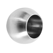 Nerezové zábradlí-záslepka prutové výplně AISI304, D20/d12m, lesk