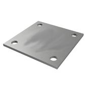 Nerezové zábradlí - kotvení vrchní nerezové 100x100
