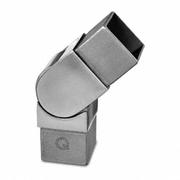 Nerezové zábradlí - spojka madla +/-90°, 40x40x2mm