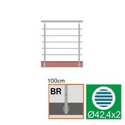 Nerezové zábradlí BR L1500, D42,4/5xd12/H1000