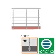 Nerezové zábradlí BR L3000, D42,4/5xd12/H1000