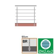 Nerezové zábradlí BR L1500, D42,4/4xd12/H900
