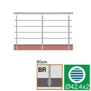 Nerezové zábradlí BR L3000, D42,4/4xd12/H900