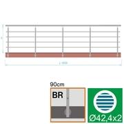 Nerezové zábradlí BR L6000, D42,4/4xd12/H900