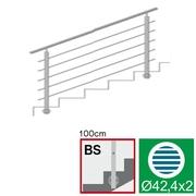 Nerezové zábradlí BS L1500, D42,4/5xd12/H1000