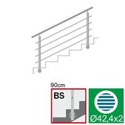 Nerezové zábradlí BS L1500, D42,4/4xd12/H900