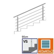 Nerezové zábradlí VS L1500mm, 40x40x2/4xd12/H900