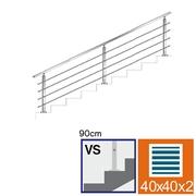 Nerezové zábradlí VS L3000mm, 40x40x2/4xd12/H900