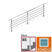 Nerezové zábradlí BS L3000, 40x40x2/4xd12/H900
