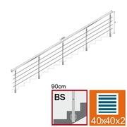 Nerezové zábradlí BS L6000, 40x40x2/4xd12/H900