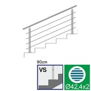 Nerezové zábradlí VS L1500, D42,4/4xd12/H900