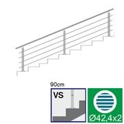 Nerezové zábradlí VS L3000, D42,4/4xd12/H900