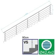 Nerezové zábradlí VS L6000, D42,4/4xd12/H900