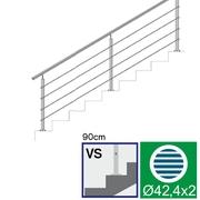 Nerezové zábradlí VS L3000, D42,4/4xl5/H900