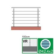 Nerezové zábradlí VR L1500, D42,4/5xd12/H1000