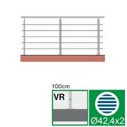 Nerezové zábradlí VR L3000, D42,4/5xd12/H1000