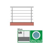 Nerezové zábradlí VR L1500, D42,4/4xd12/H900