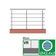 Nerezové zábradlí VR L3000, D42,4/4xd12/H900