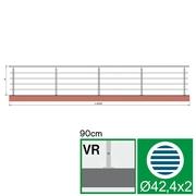 Nerezové zábradlí VR L6000, D42,4/4xd12/H900