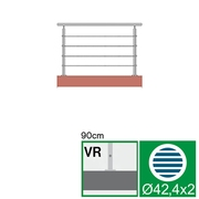 Nerezové zábradlí VR L1500, D42,4/4xl5/H900